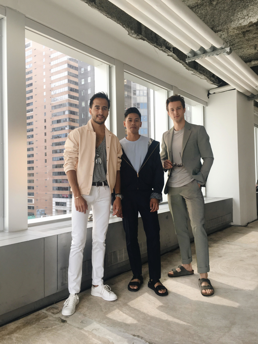 Moti Ankari, Anthony Urbano and Marcel Floruss at the Perry Ellis S/S '17 Presentation